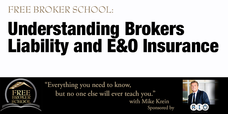 Free Broker School: Understanding Brokers Liability and E&O Insurance